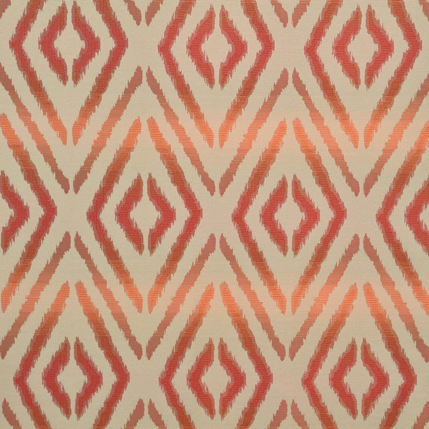Maui Coral Faux Silk Jacquard Swatch