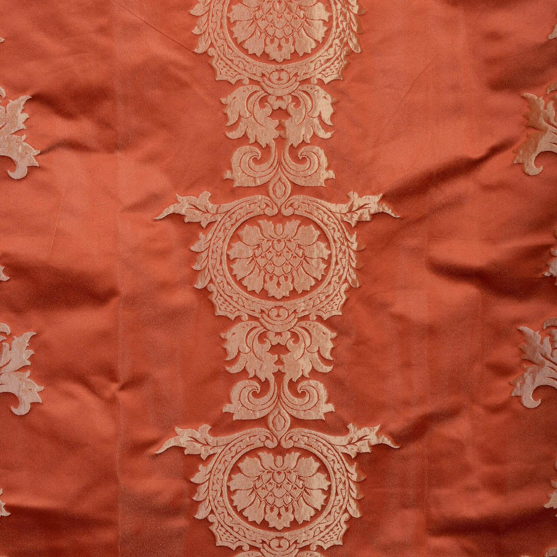 Surrey Russet Faux Silk Jacquard Fabric