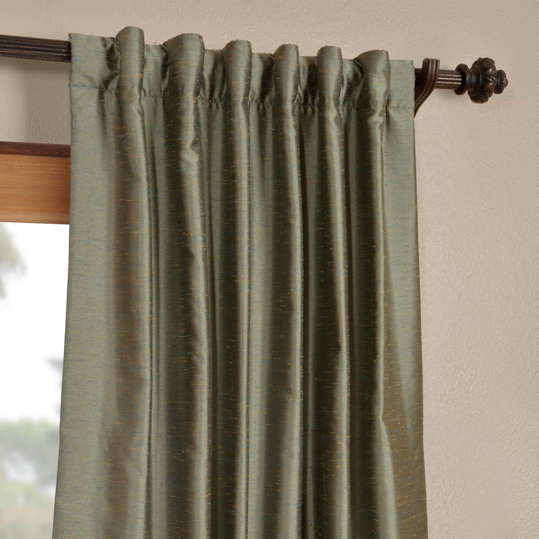 Blue Nile Yarn Dyed Faux Dupioni Silk Curtain