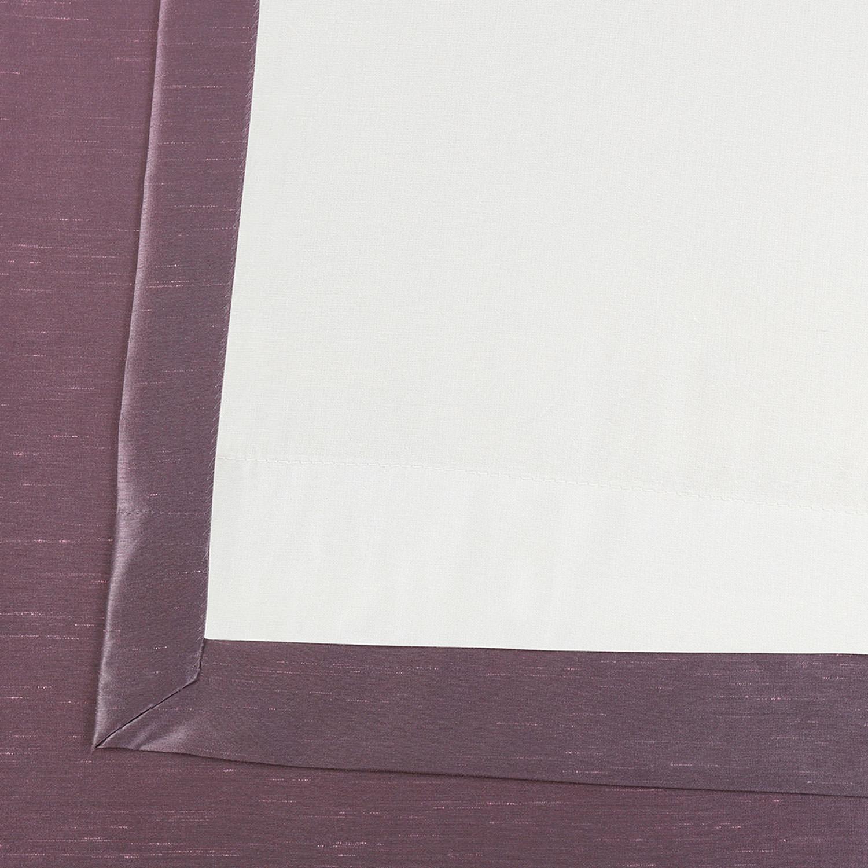Smokey Plum Grommet Blackout Vintage Textured Faux Dupioni Silk Curtain