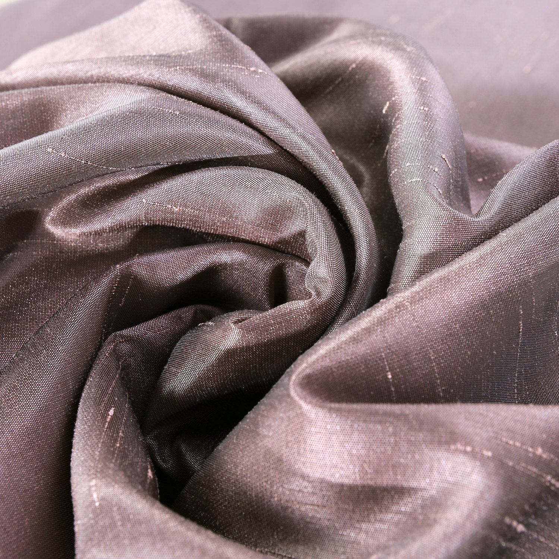 Smokey Plum Faux Textured Dupioni Silk Swatch