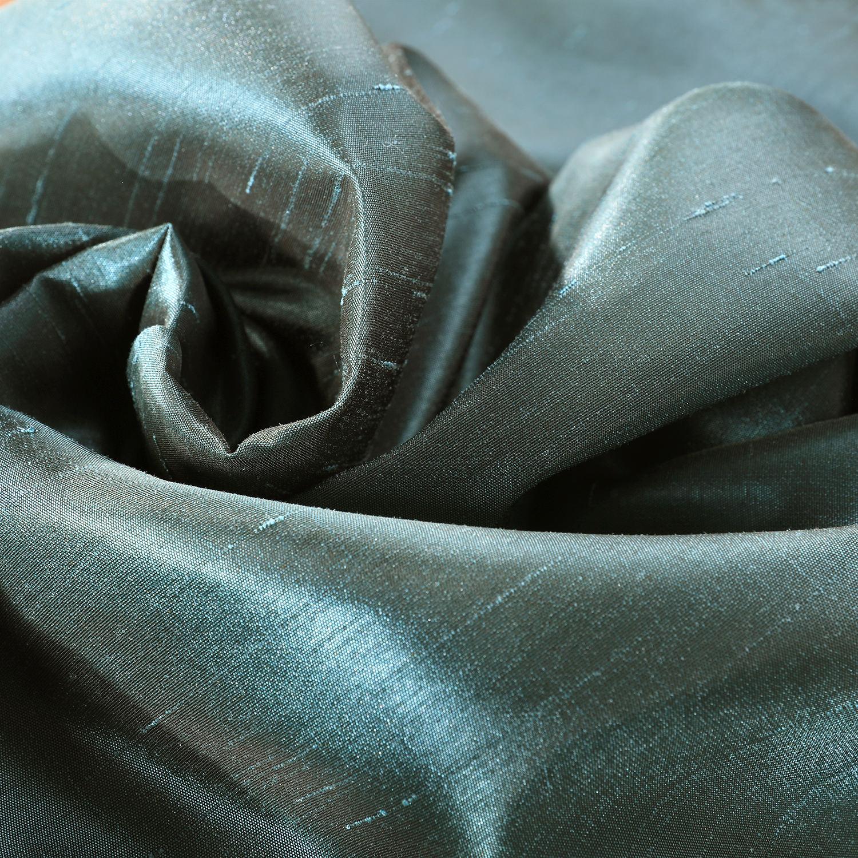 Peacock Vintage Textured Faux Dupioni Silk Fabric
