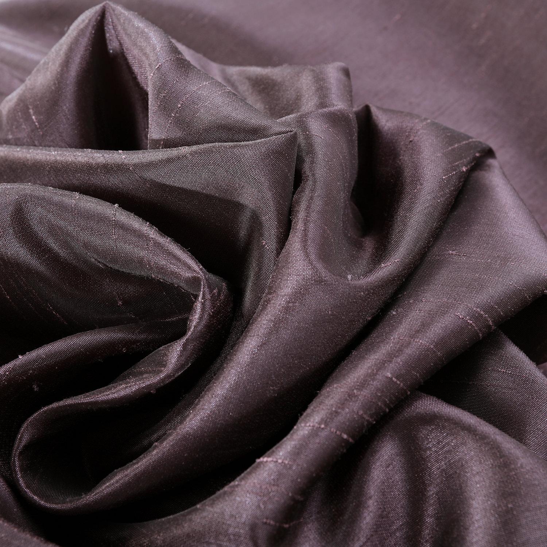 Dark Grape Vintage Textured Faux Dupioni Silk Fabric