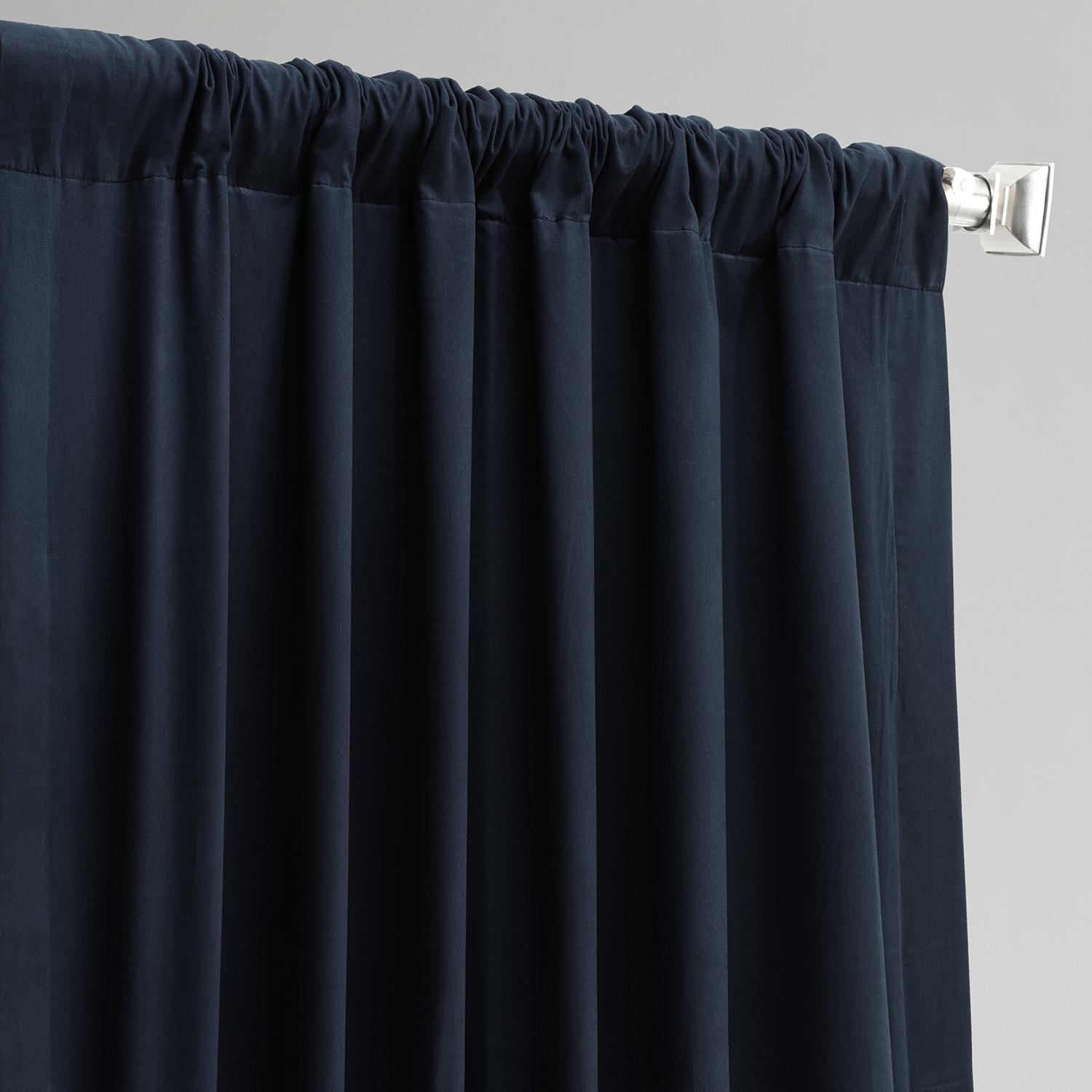 polo navy solid blackout curtain and drapes. Black Bedroom Furniture Sets. Home Design Ideas