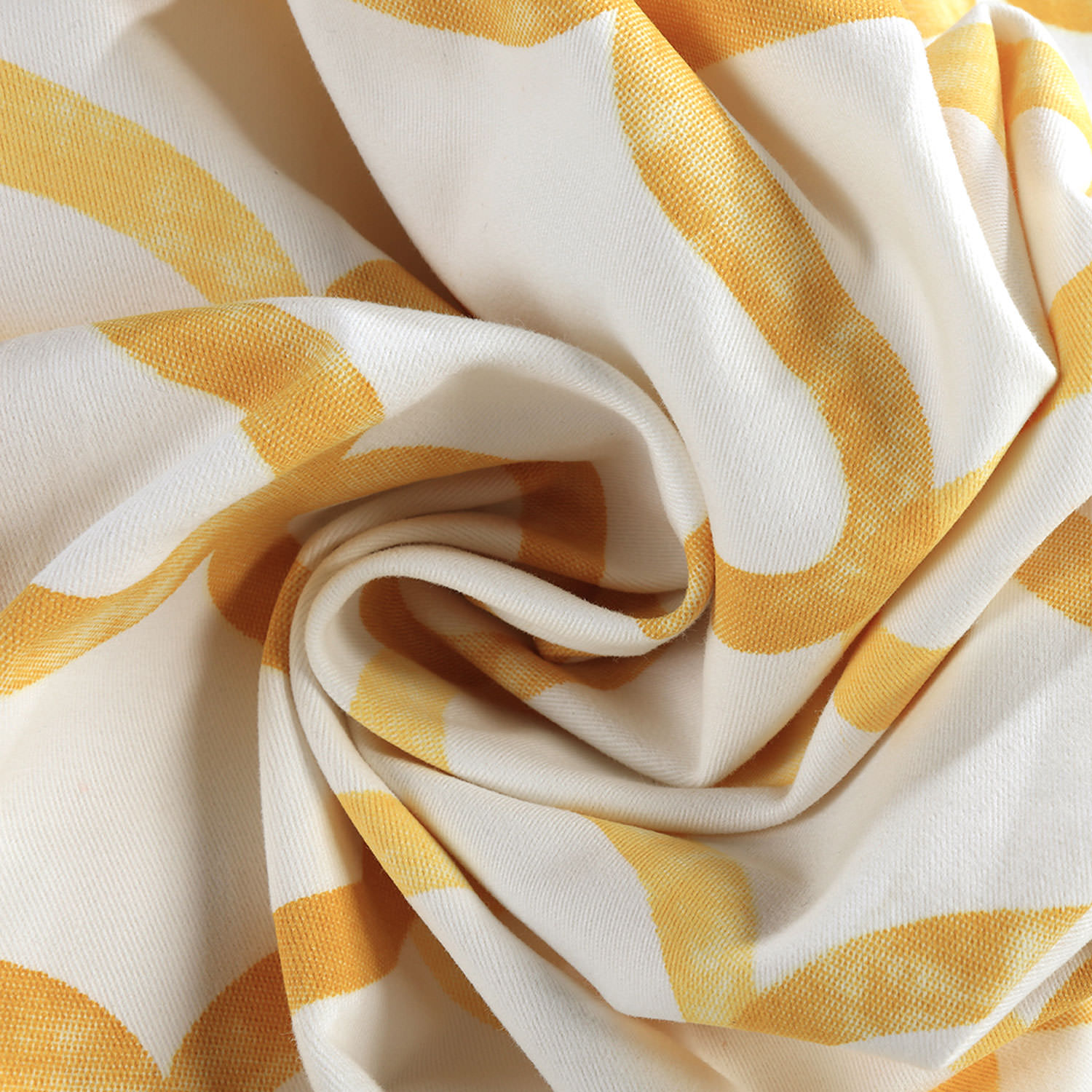 Illusions Yellow Printed Cotton Fabric