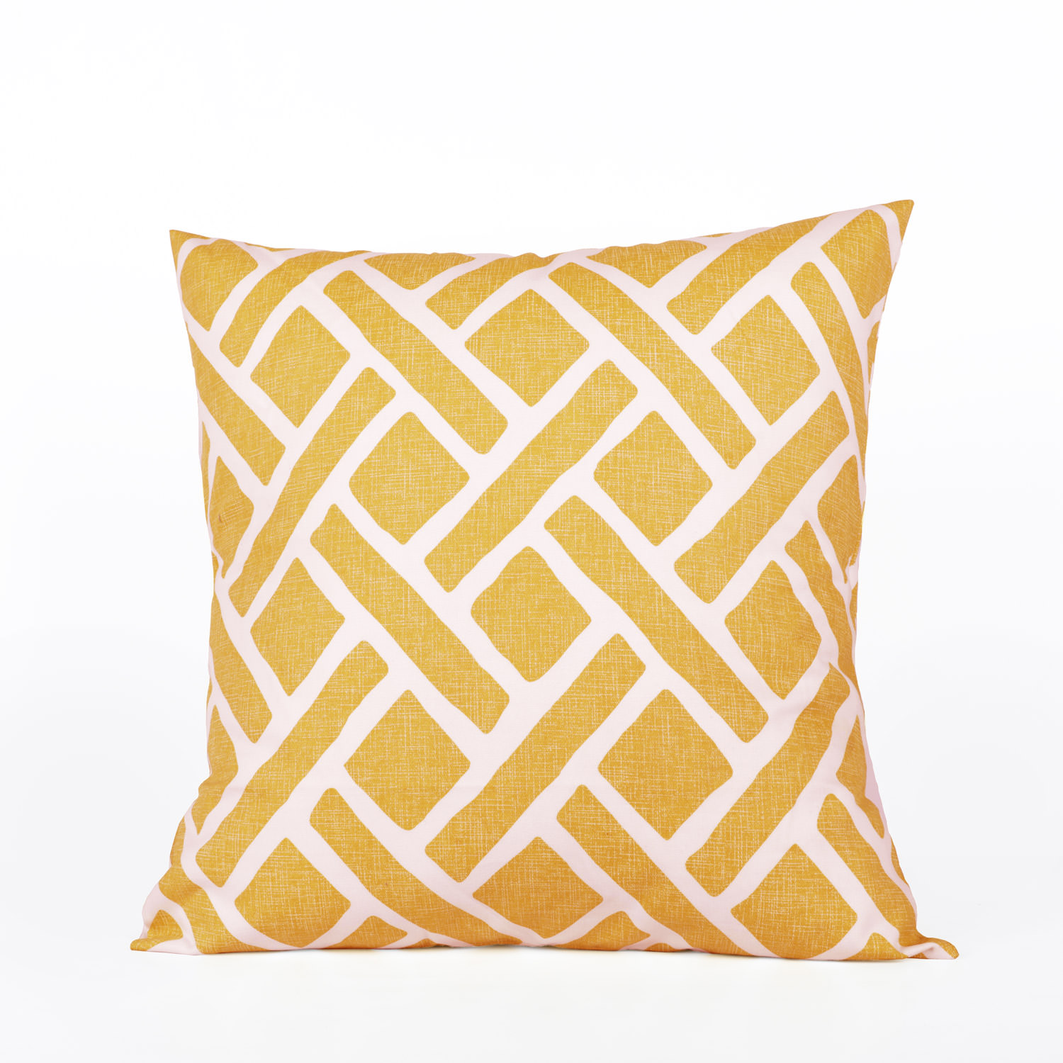 Martinique Yellow Printed Cotton Cover- PAIR