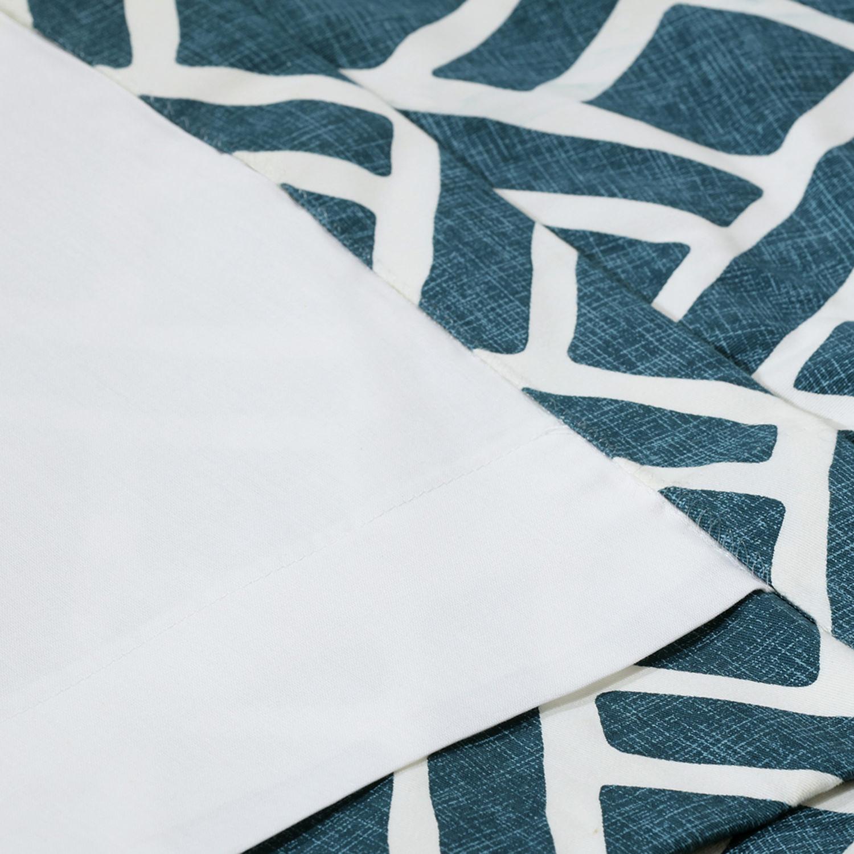 Martinique Blue Printed Cotton Curtain