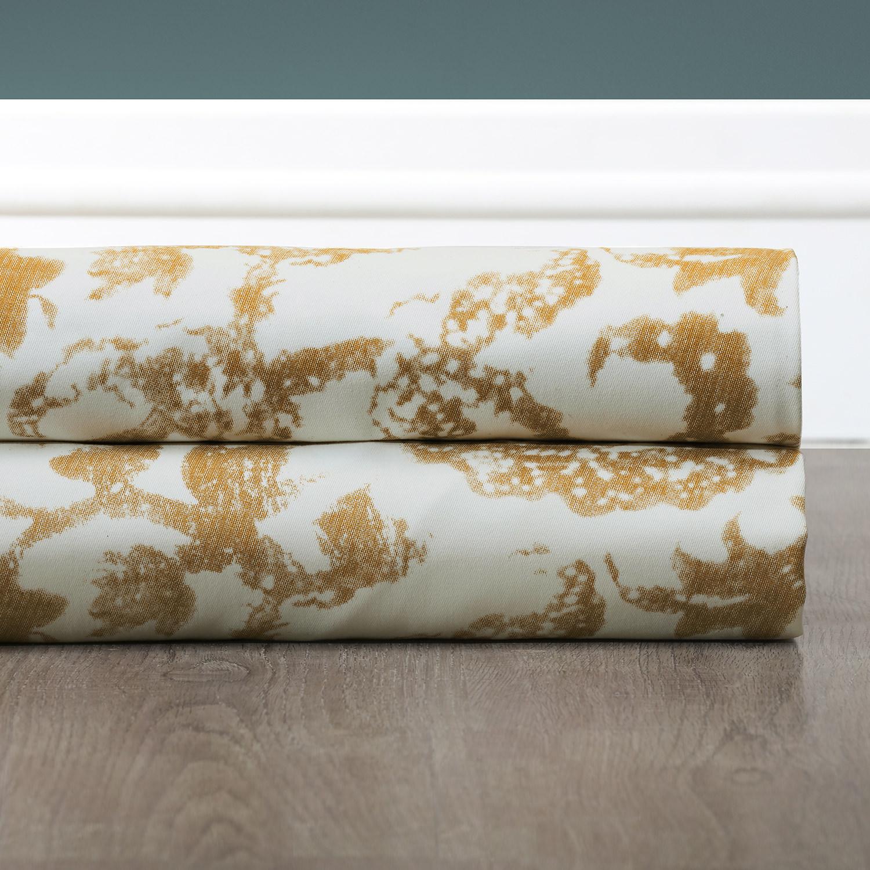 Edina Yellow Printed Cotton Fabric