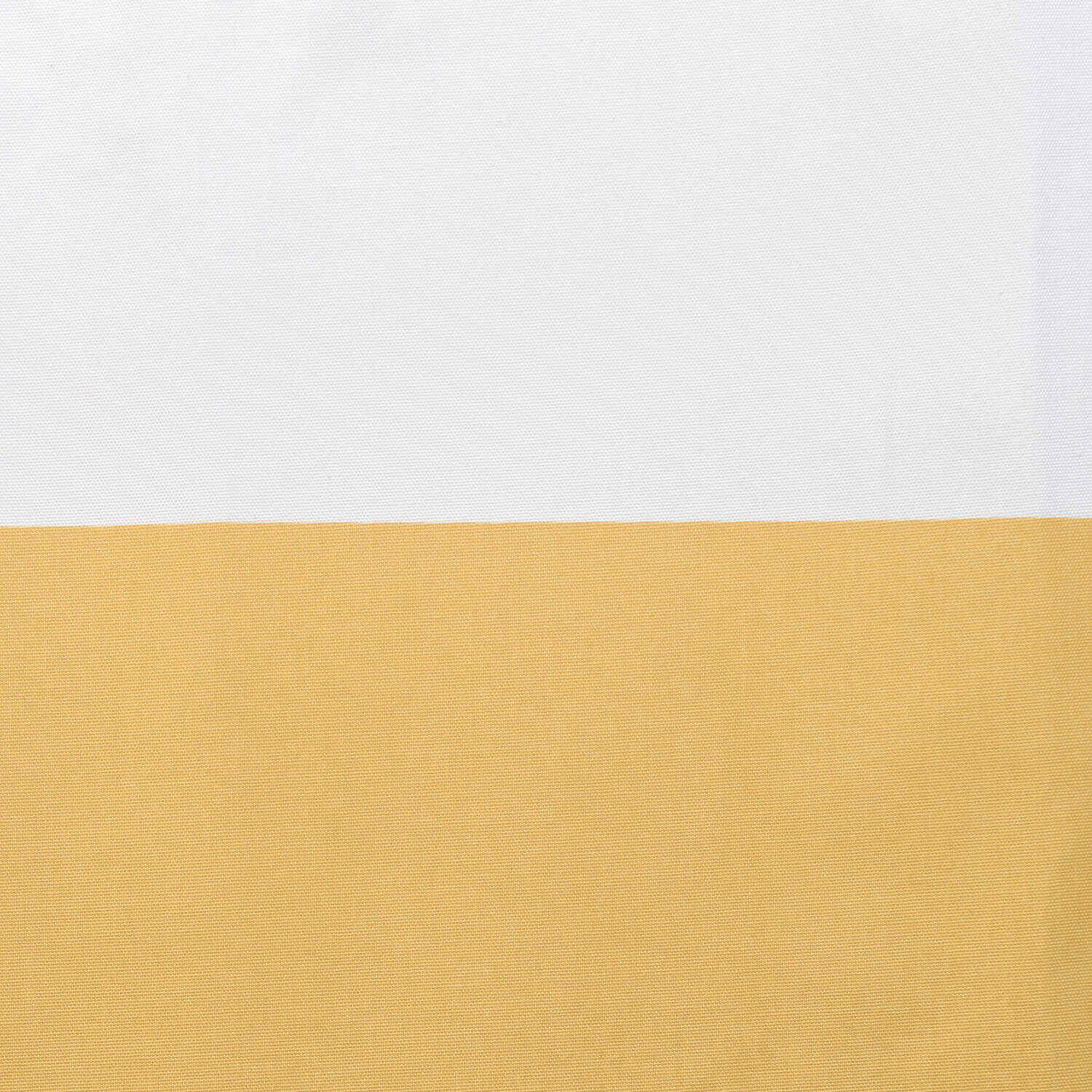 Quince Yellow & OffWhite Horizontal Stripe Cotton Fabric