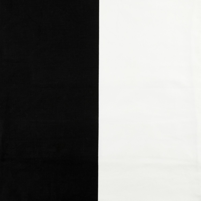 Onyx Black & Off White Horizontal Stripe Cotton Cover- PAIR