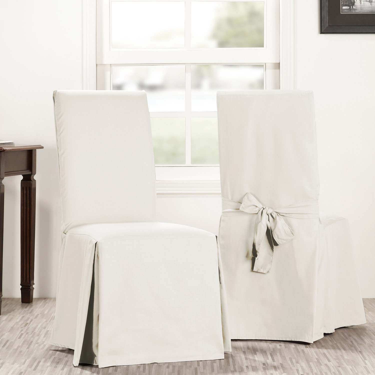 Fresh Popcorn Solid Cotton Chair Covers (Sold As Pair)