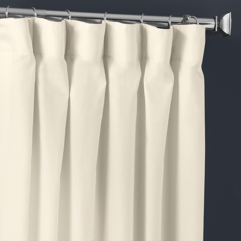 Fresh Popcorn Solid Cotton Curtain