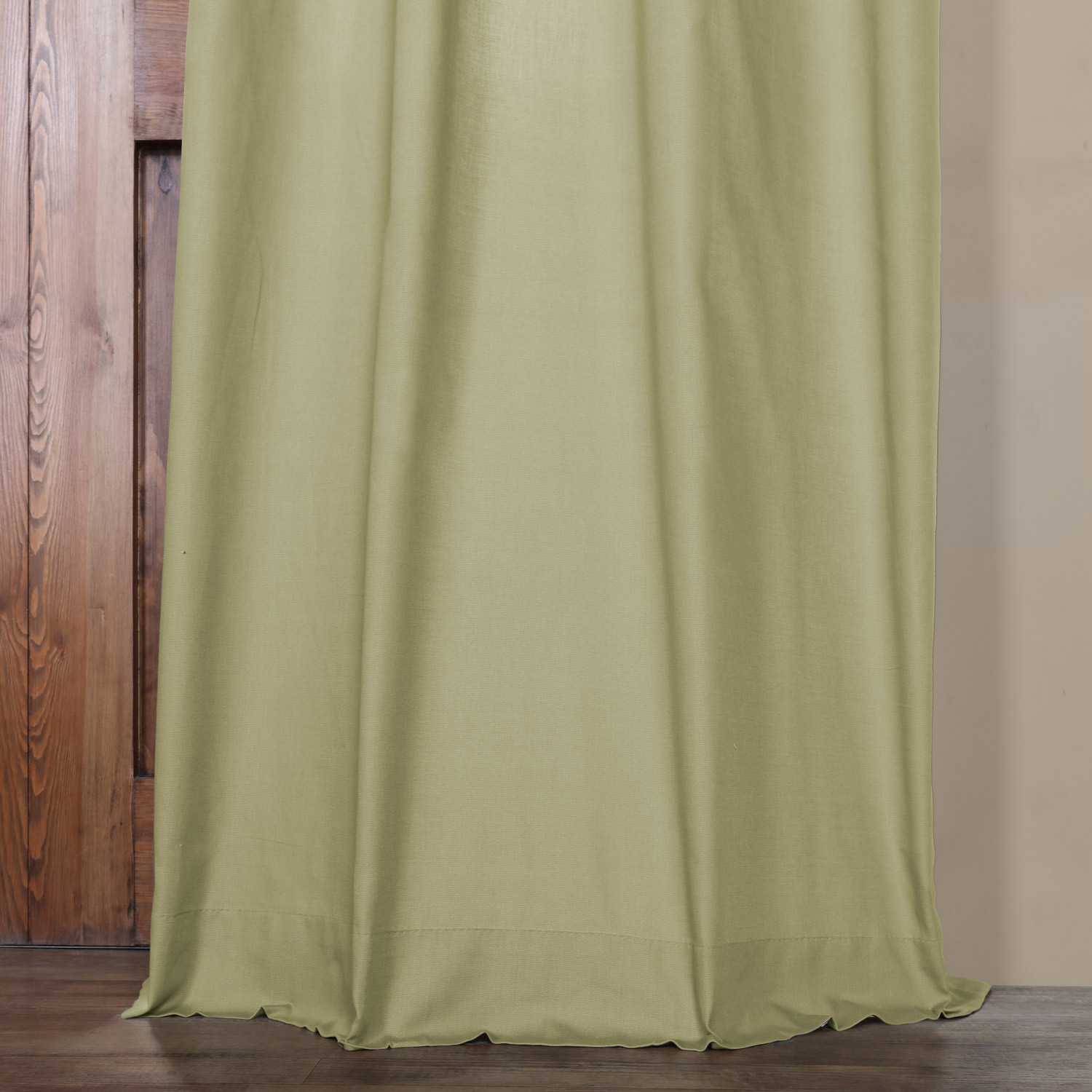 Mountain Moss Solid Cotton Grommet Curtain