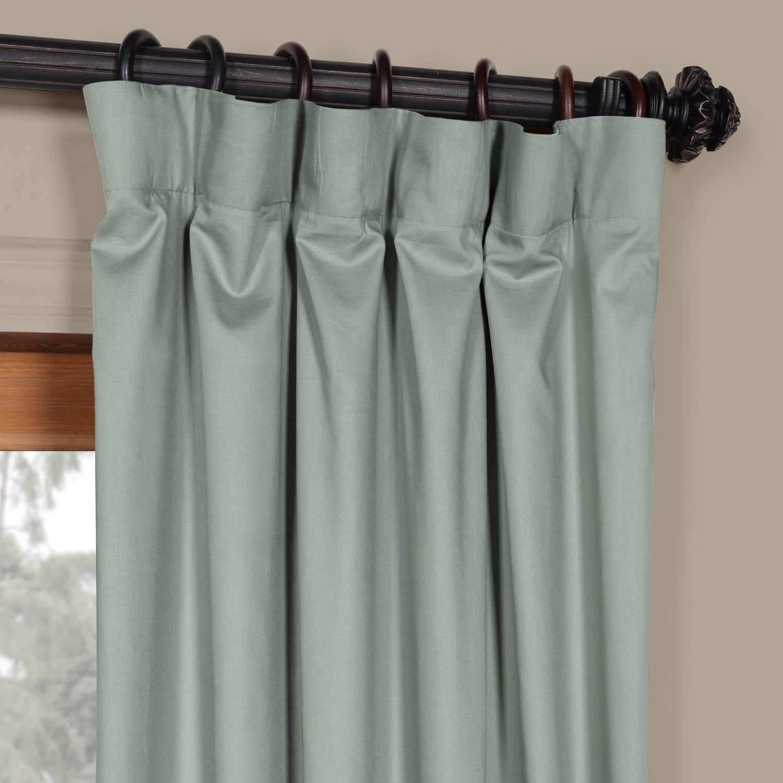 Jasper Stone Solid Cotton Curtain
