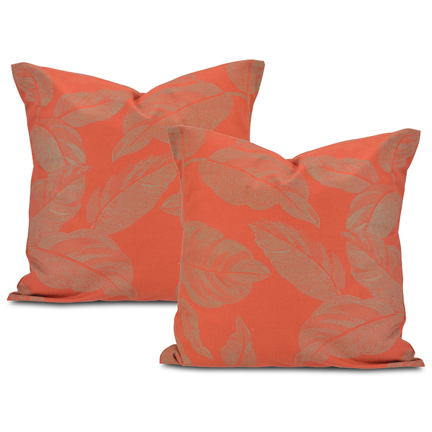 Bali Red Printed Cotton Cushion Cover (Pair)