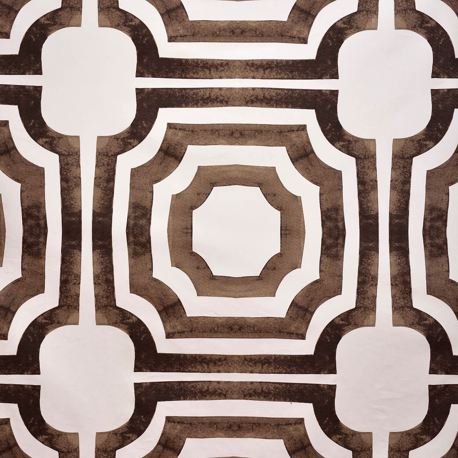 Mecca Brown Printed Cotton Fabric