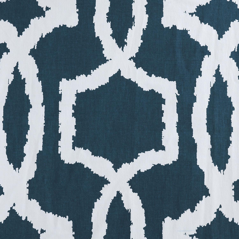 Lyons Blue Printed Cotton Twill Fabric