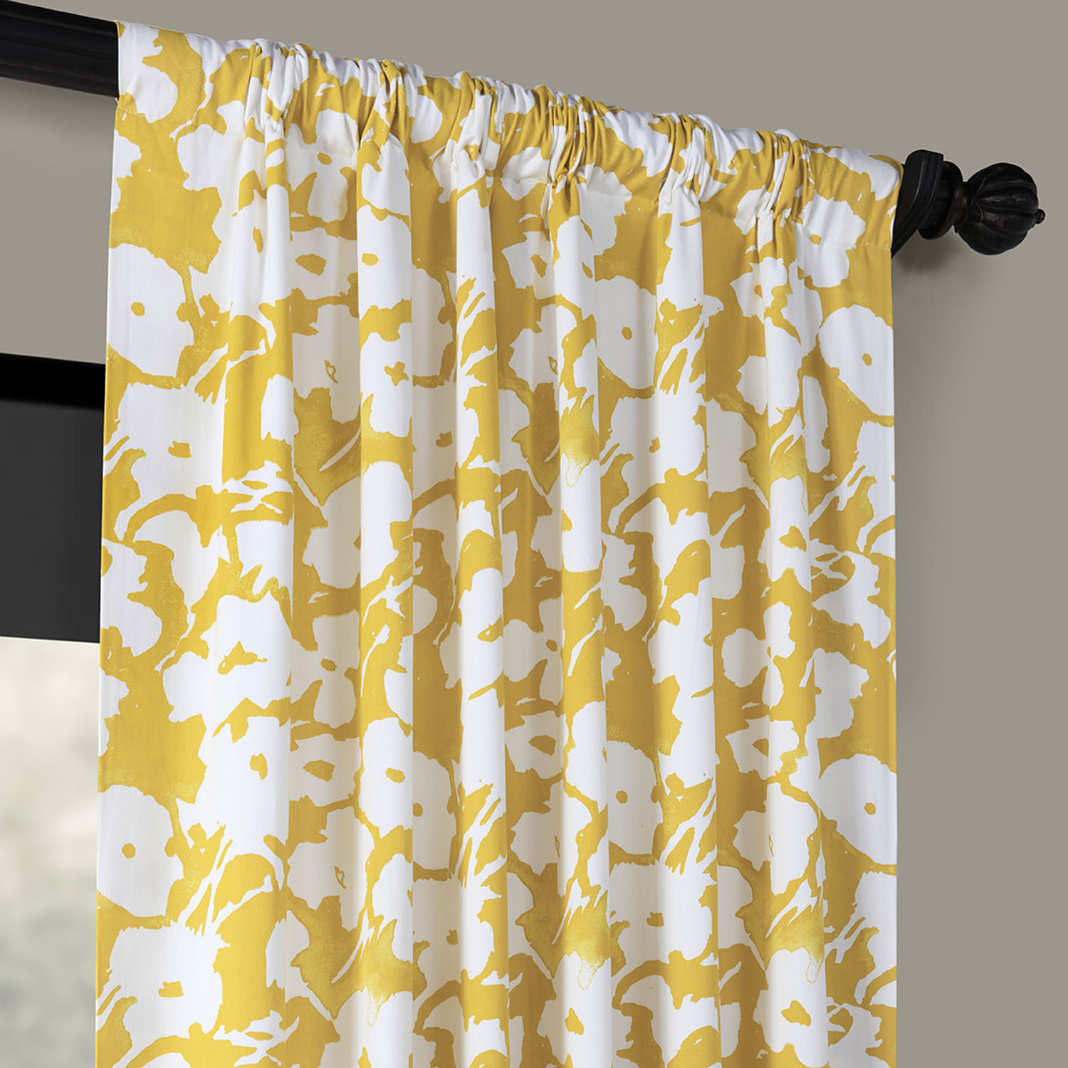 Van Gogh Marigold Printed Cotton Twill Curtain