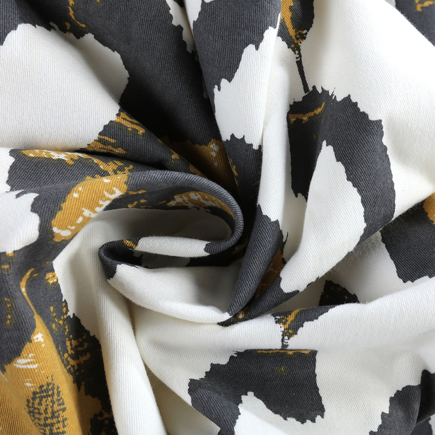 Lumiere Gold Printed Cotton Twill Fabric