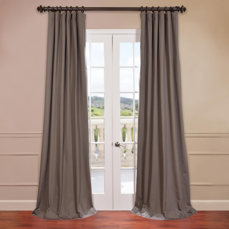 River Rock Grey Cotton Twill Curtain