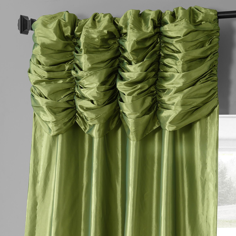 Fern Ruched Faux Solid Taffeta Curtain