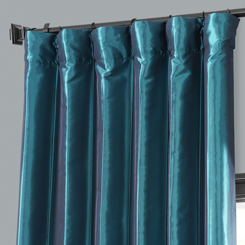 Meditteranean Blackout Faux Silk Taffeta Curtain