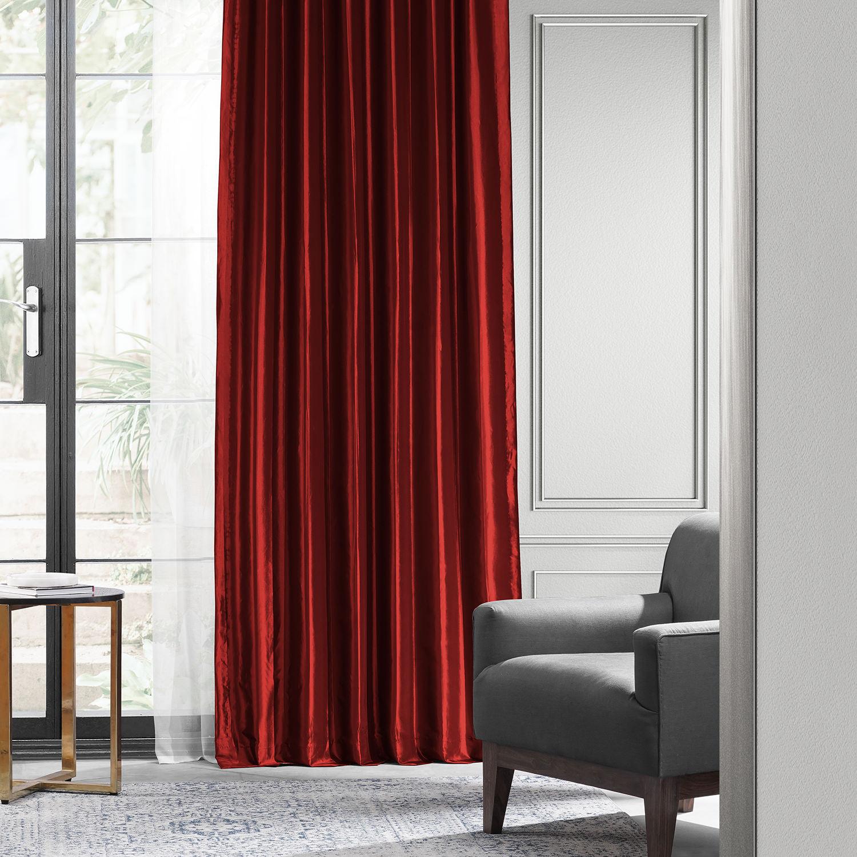 how to clean silk taffeta curtains