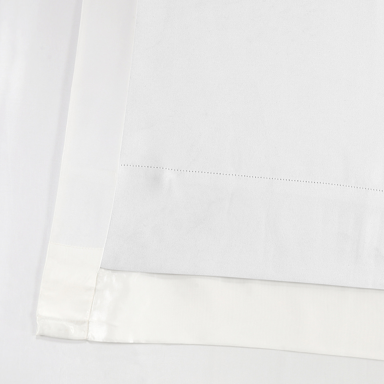 Gleaming Sugar Blackout Extra Wide Faux Silk Taffeta Curtain