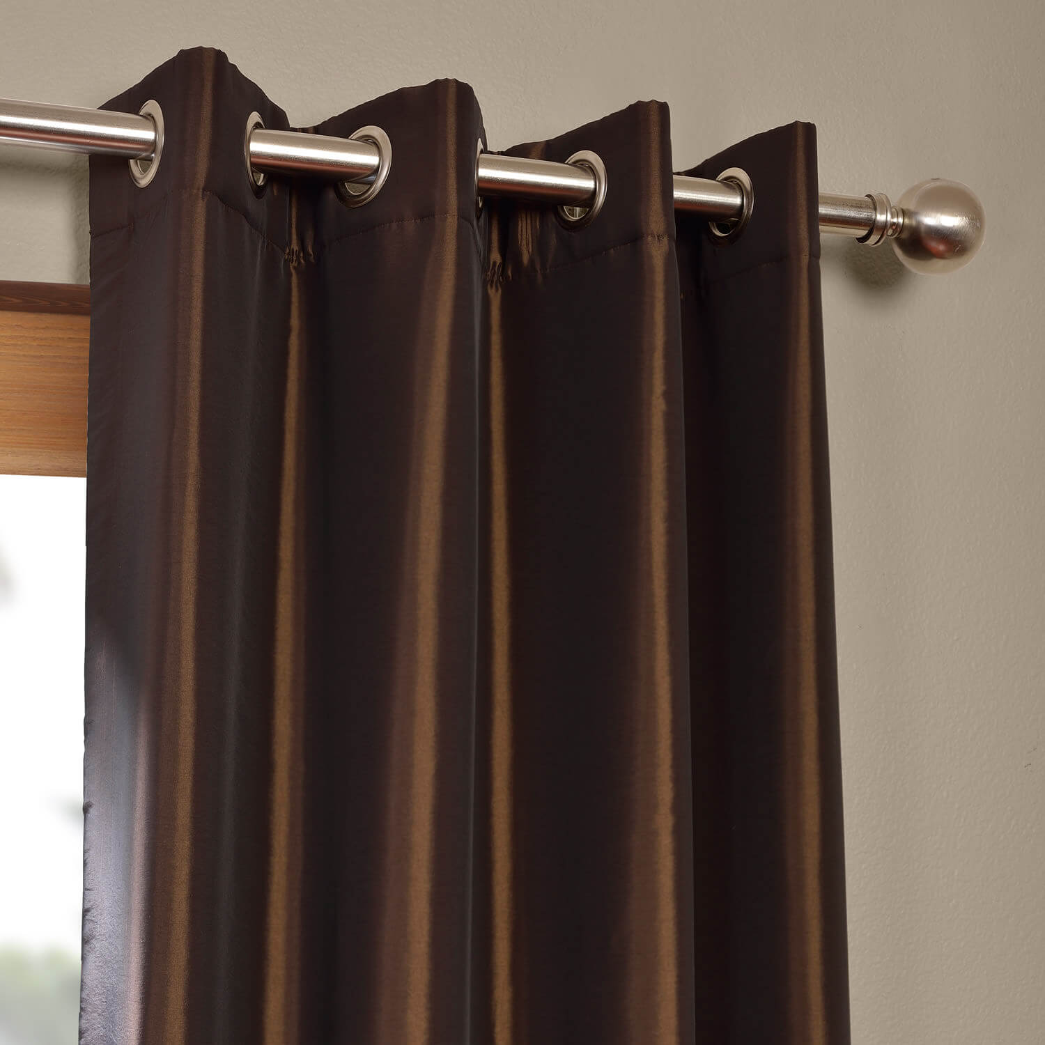 Java Grommet Blackout Faux Silk Taffeta Curtain