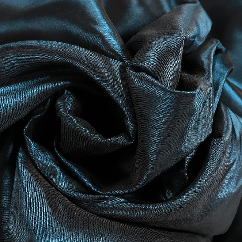 Glossy Cobalt Blackout Extra Wide Faux Silk Taffeta Swatch