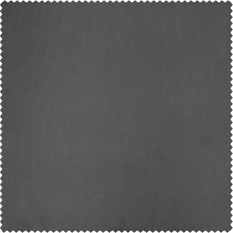 Graphite Faux Silk Taffeta Fabric