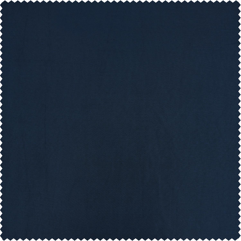 Navy Blue Faux Silk Taffeta Curtain