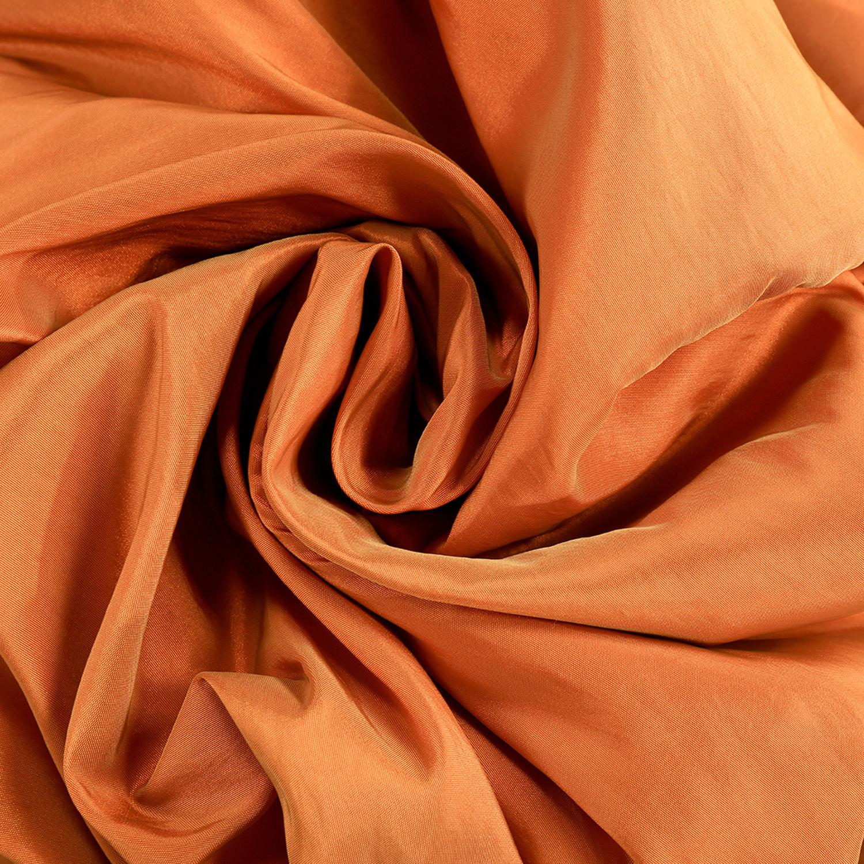 Harvest OrangeFaux Silk Taffeta Fabric