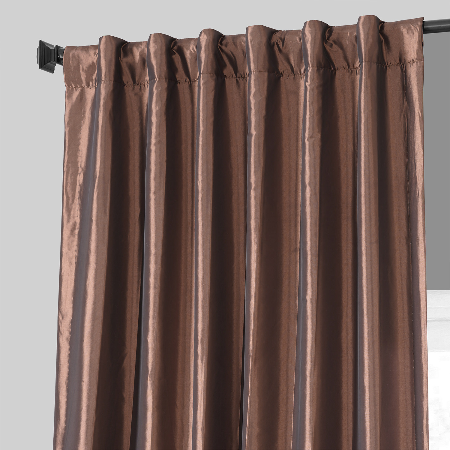 Buy Copper Brown Faux Silk Taffeta Curtains Amp Drapes