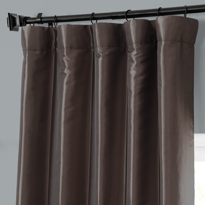 Buy Mushroom Faux Silk Taffeta Curtains Amp Drapes