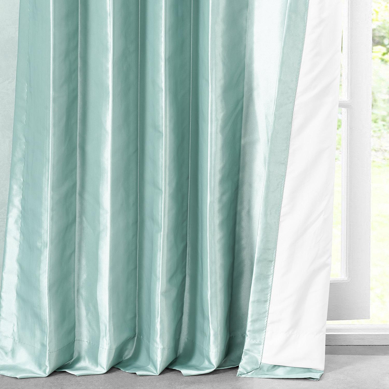 Robins Egg Faux Silk Taffeta Curtain