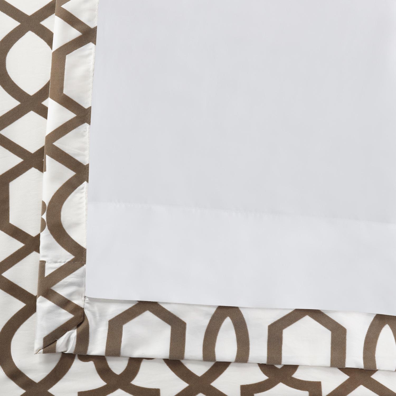 Filigree Pearl Flocked Faux Silk Curtain