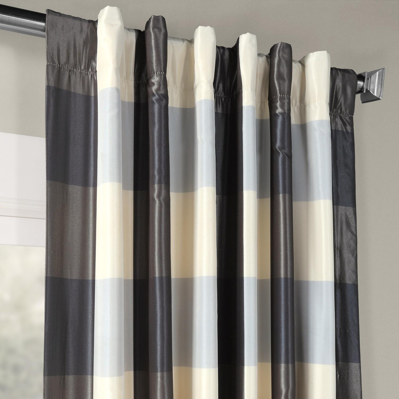 Essex Faux Silk Plaid Curtain