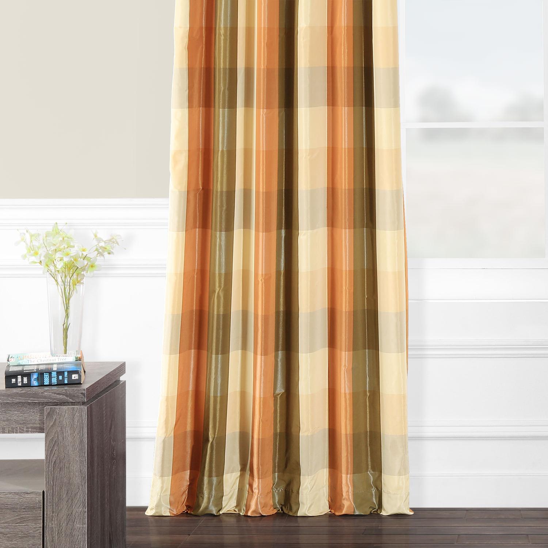 Cumbria Faux Silk Plaid Curtain
