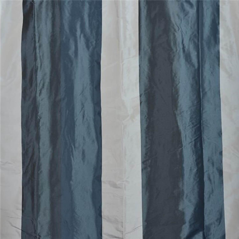 Park Avenue Faux Silk Taffeta Stripe Fabric