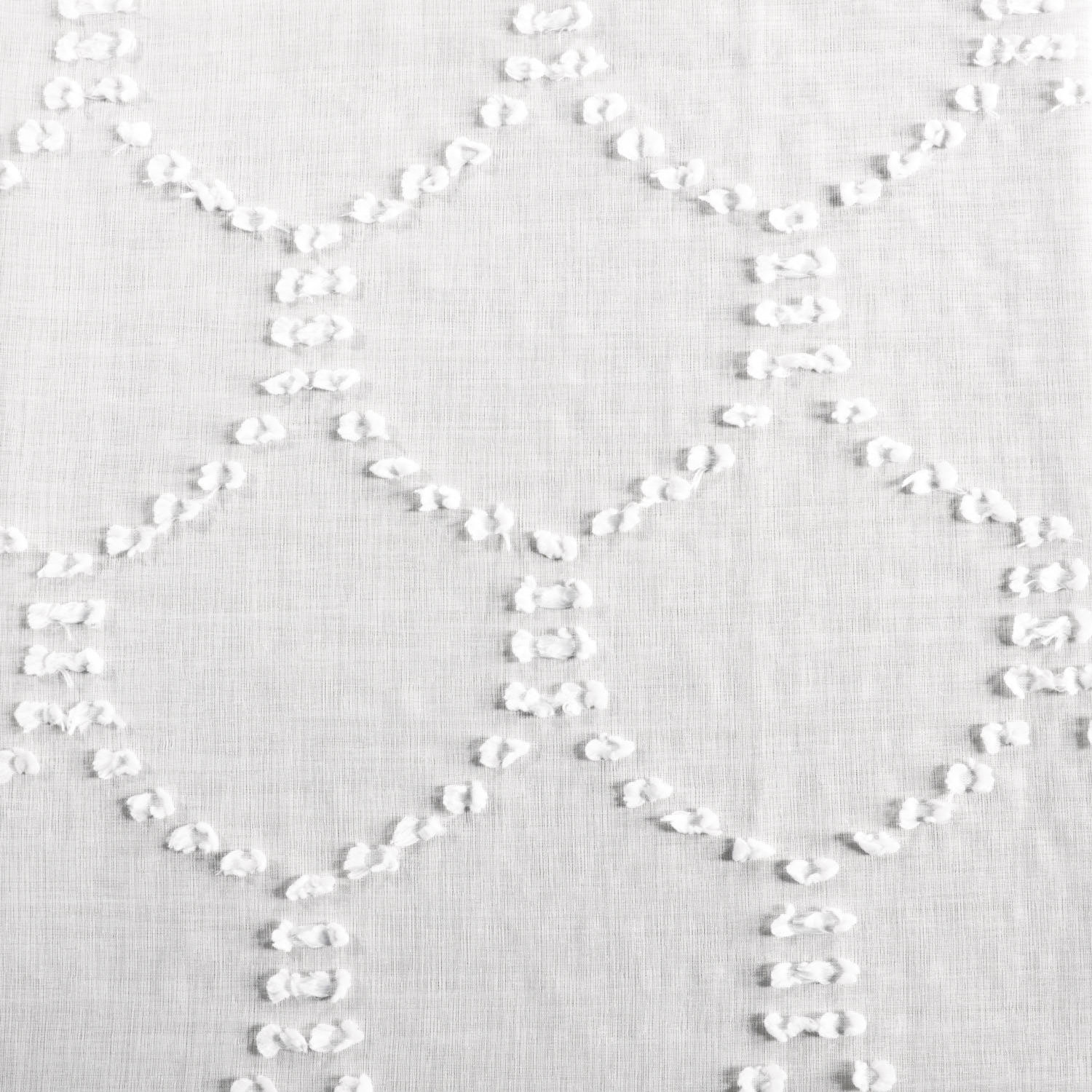 Marseille Shell Patterned Faux Linen Sheer Swatch