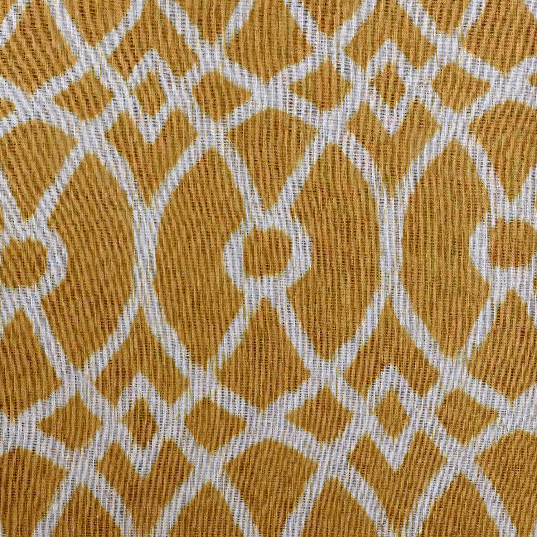 Tava Yellow Printed Sheer Fabric