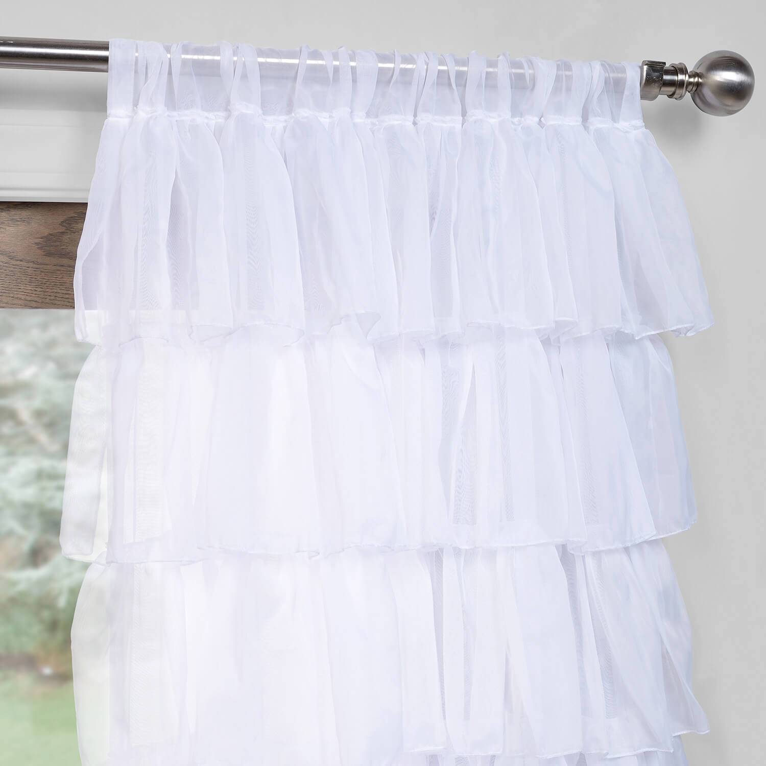 Amelia Layered Ruffle Sheer Curtain