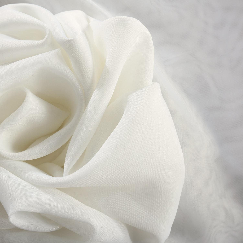 Signature Off White Sheer Fabric