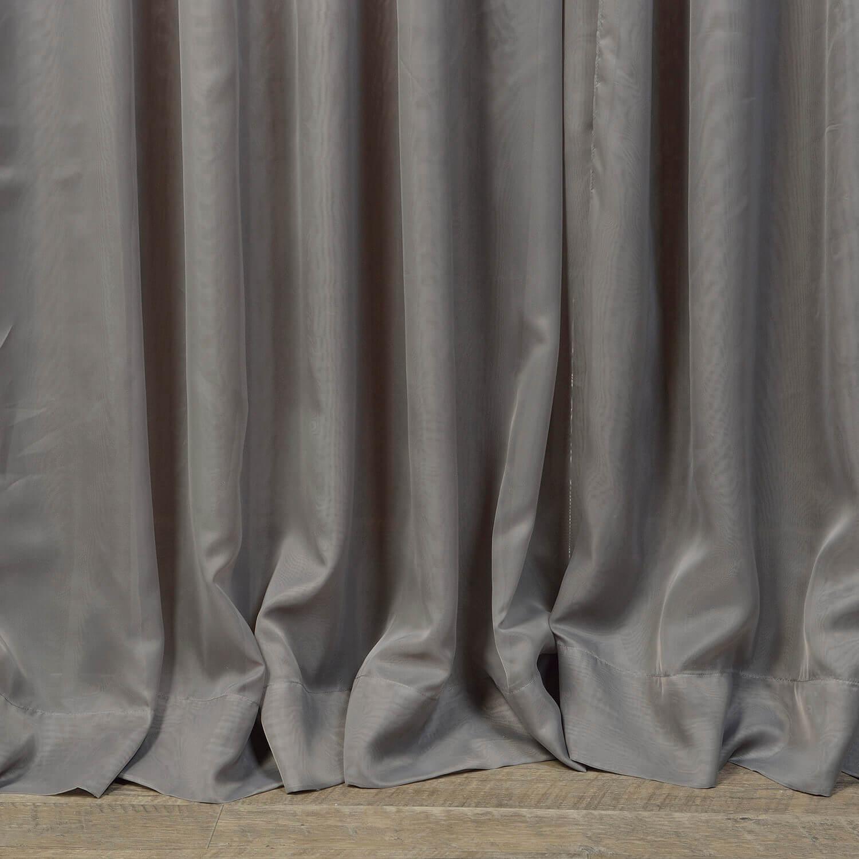 Signature Extra Wide Grey Sheer Curtain