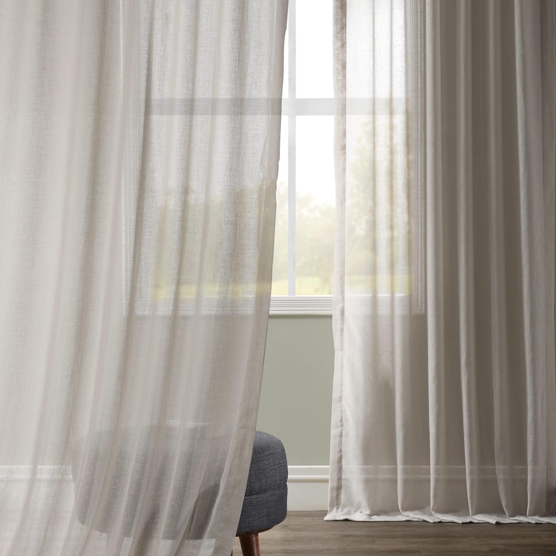 Tumbleweed Faux Linen Sheer Curtain