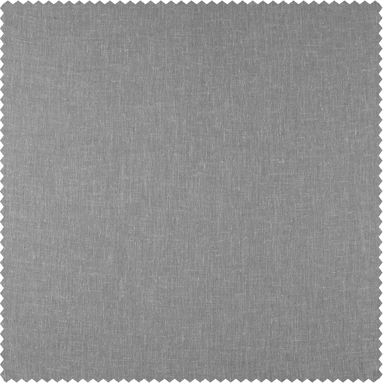 Nickel Faux Linen Sheer Swatch