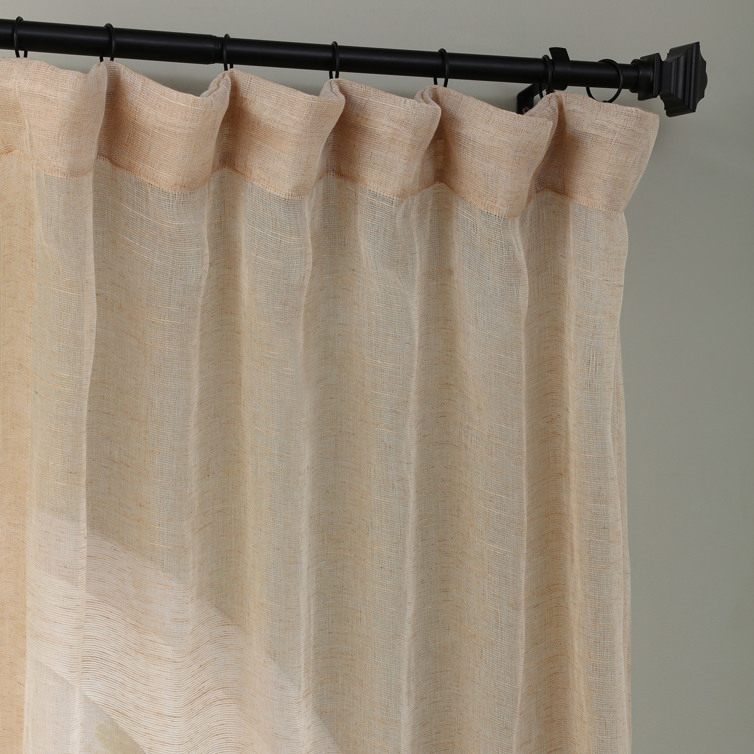 Open Weave Natural Linen Sheer Curtains Amp Drapes