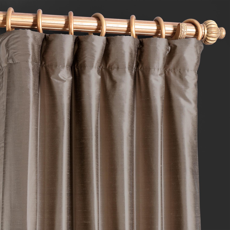 Silver Grey Thai Silk Curtain