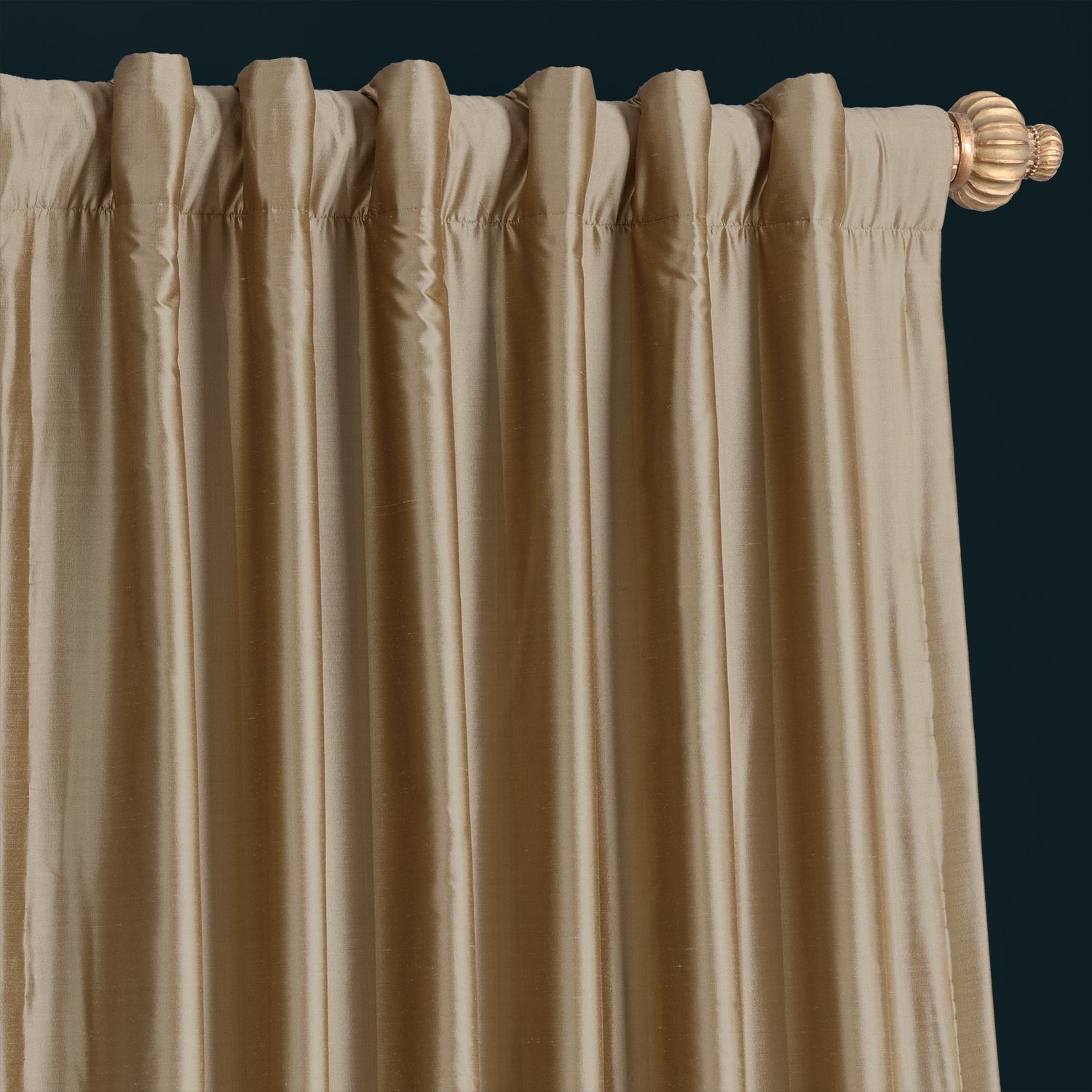 Gold Dust Thai Silk Curtain